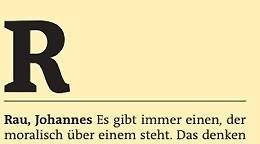 Freitag A-Z: Rau, Johannes