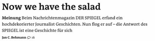 Meinung - Now we have the salad