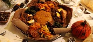 Äthiopisches Festtagsessen vom Feinsten bei Karls Café & Weine in Ottensen