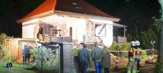Fundament untergraben: Vater bringt Haus zum Einsturz