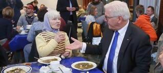 Bundespräsident Steinmeier zu Gast bei Obdachlosen