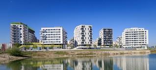 Neuer Stadtteil mit See