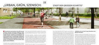 Urban, grün, szenisch: Stadt der großen Schritte