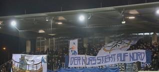 Choreografie & Pyroshow bei Babelsberg gegen Lok Leipzig