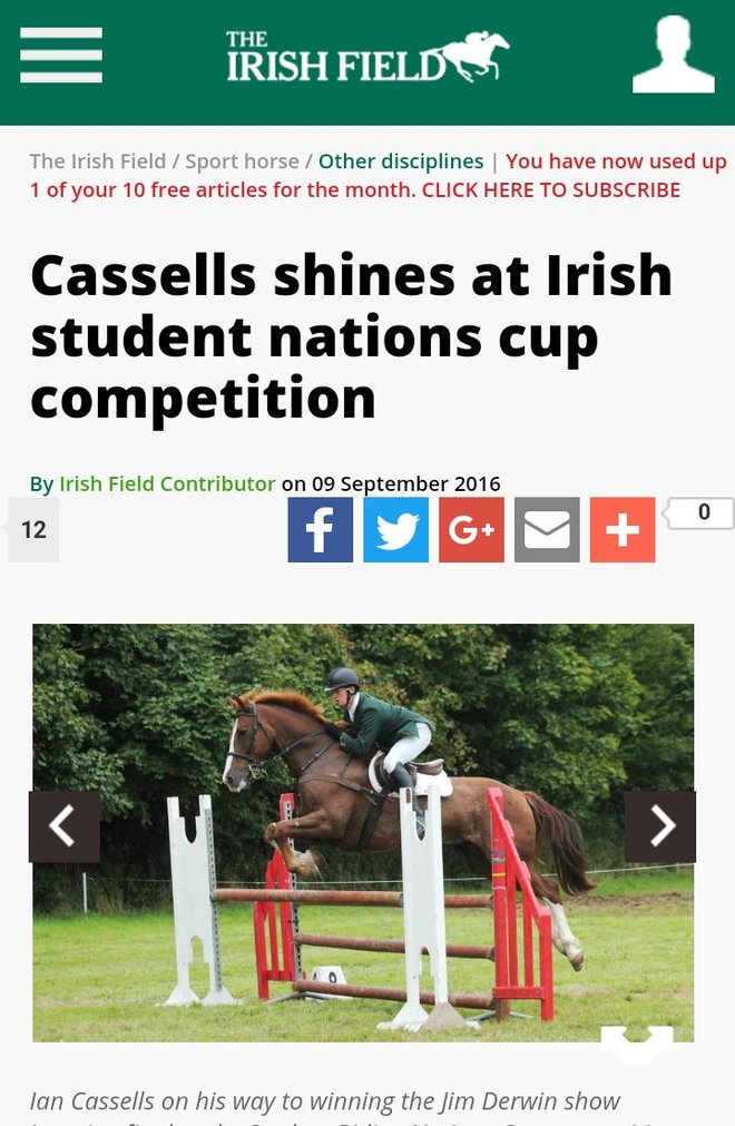 Bild in The Irish Field