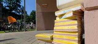 Keiner will sie: In Nürnberg stapeln sich Telefonbücher