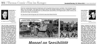 """Europa streitet über den rassistischen Comic """"Tim im Kongo"""""""