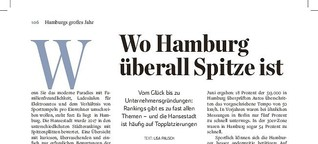 Wo Hamburg überall Spitze ist