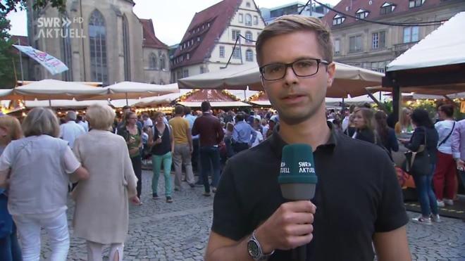 Live-Schalte vom Stuttgarter Weindorf