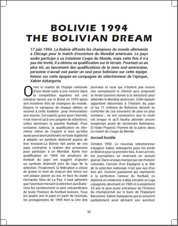 Bolivie 1994 : The Bolivian Dream