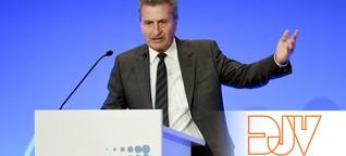 """""""Eine naive Vorstellung"""": LSR-Mahnung von EU-Kommissar Oettinger stößt bei DJV auf Unverständnis"""