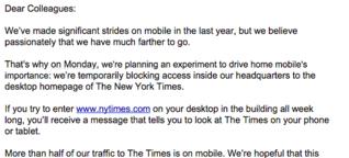 New York Times: Ist die Desktop-freie Woche sinnvoll? [1]