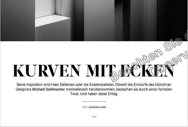 Designer Michael Geldmacher:  Kurven mit Ecken