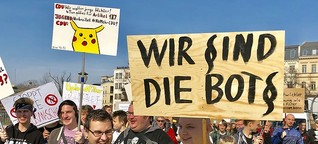 Artikel 13: 300 Teilnehmer bei Potsdamer Demo gegen Urheberrechtsreform