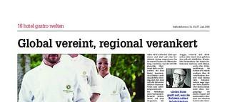 Global vereint, regional verankert