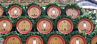 Bierpreise beim 186. Müchner Oktoberfest