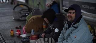 Obdachlose erzählen, wie sie den Winter überstehen