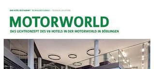 Lichtdesign für das V8 Hotel Motorworld Böblingen