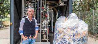 Aus Plastikmüll wird Diesel: Rettet dieser Zauberkasten die Welt?