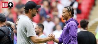 FC Bayern: Leroy Sané schaute nach dem Spiel nur auf sein Handy