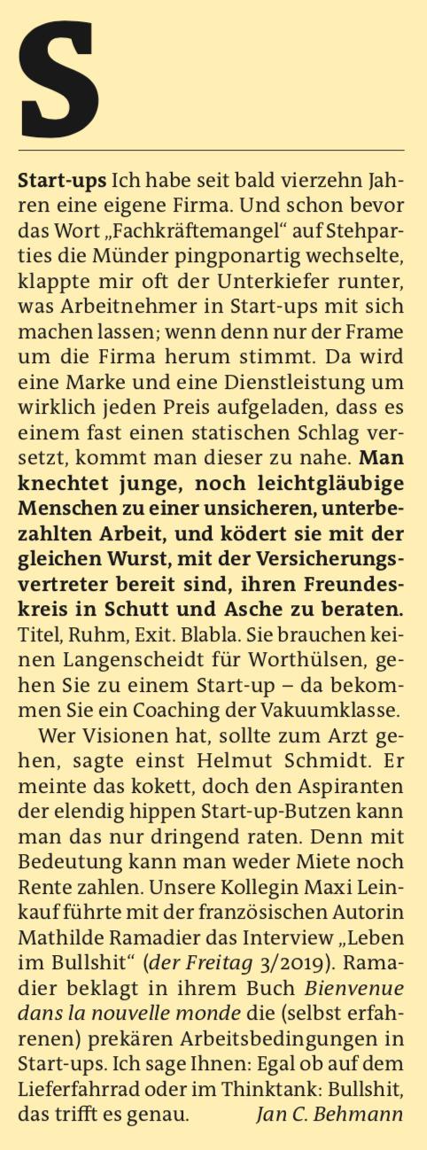Freitag A-Z: Start-Ups