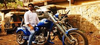 Chopper in Indien: Easy Rider in der Mega-Stadt