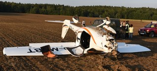 Sachsen: Junger Pilot (21) legt Bruchlandung hin