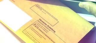 Die sächsische Polizei erklärt einen Studenten per Post für drogenabhängig