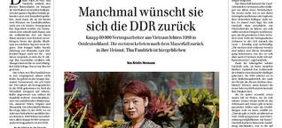 Manchmal wünscht sie sich die DDR zurück