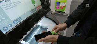 Automat tauscht alte Smartphones ein