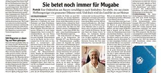 Sie betet noch immer für Mugabe
