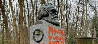 Vandalen schänden Grab von Karl Marx