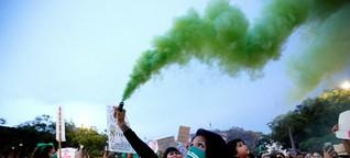 Militanter Protest in Mexiko