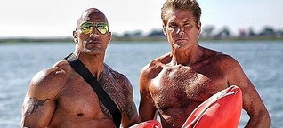 The Hoff und The Rock am Strand von Malibu