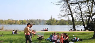 An diesen Plätzen grillt Hamburgs Süden