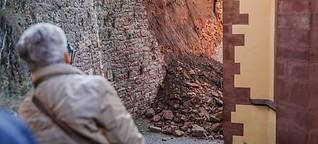 Was passierte, nachdem die historische Mauer einstürzte?