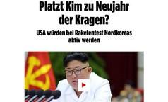 Nordkorea-Ultimatum an USA läuft ab: Platzt Kim zu Neujahr der Kragen?