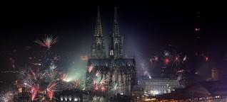 Silvester in Köln: Hunderttausende feiern den Beginn des neuen Jahres