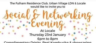 Locale Fulham Restaurant: Social & Networking Evening - Thur 23 Jan 6-8pm