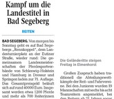 Kampf um die Landestitel in Bad Segeberg