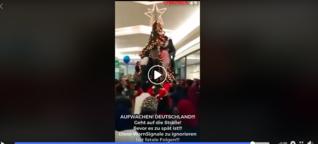 Nein, dieser Tannenbaum wurde nicht in einem deutschen Kaufhaus zerstört
