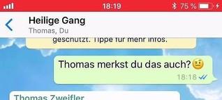 """WhatsApp-Chat: """"Nevjerojatno!"""" Wie Petrus und Thomas womöglich Pfingsten erlebten 😉"""