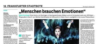 """Interview mit Sandkünstler: """"Menschen brauchen Emotionen"""""""