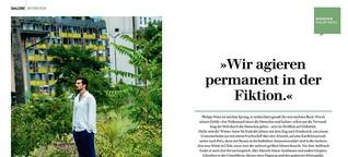 """Philipp Weiss: """"Wir agieren permanent in der Fiktion."""""""