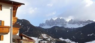 Mit Blick auf die Dolomiten ins Landleben eintauchen