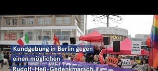 Kundgebung gegen möglichen Rudolf-Heß-Marsch in Berlin