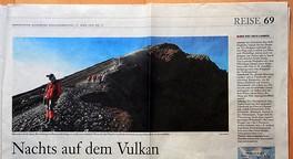 Nachts auf dem Vulkan