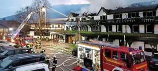 """""""Schwarzwaldstube"""" komplett abgebrannt - Millionenschaden nach Feuer in Baiersbronn"""