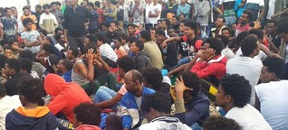 EU-Politik: Weniger Flüchtlinge hier, mehr Leid in Libyen