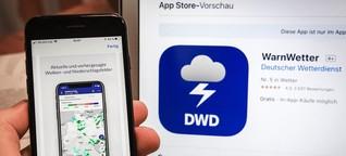 Nur Wetterwarnungen kostenlos: BGH-Urteil zur DWD-App